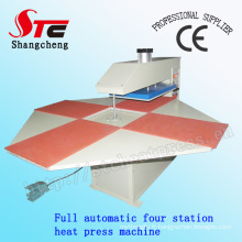 CE certificat complet automatique pneumatique quatre Station thermique presse Machine T-Shirt chaleur transfert Machine Stc-Qd03