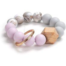Silikon Schlüsselring Armband Perlen Armband Quaste