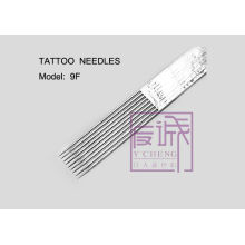 Agulhas de tatuagem esterilizada pré-fabricadas de 50 pacotes, barra de agulhas planas