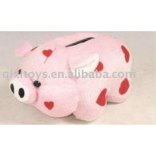 caixa de dinheiro educacional do porco do luxuoso do brinquedo, banco de moeda animal,