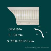 Home Design Fireproof PU Cornice Moulding