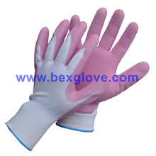 Латексная пенная садовая перчатка