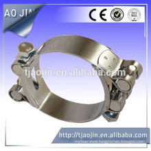 European type double bolt hose clamp/double bolt hose clamp