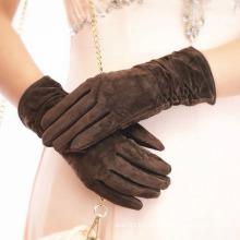 Lady Schweinsleder Wildleder Fashion Dress Fahren Handschuhe (YKY5211)
