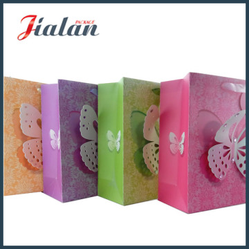 Butterfly Customize Design Cheap High Quality 3D Printed Paper Bag