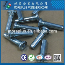 Made in Taiwan M8X25 C1008 Steel 1.5 MM MAX Incomplete Thread Length Head Chamfer 40-43 Degree Special Screws