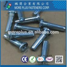 Fabricado em Taiwan M8X25 C1008 Aço 1,5 MM MAX Checagem incompleta do fio Cabeça Chamfer Parafusos especiais de 40 a 43 graus