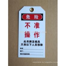 Genehmigen CE-Länge 1,8m und Kabeldurchmesser 5mm ABS billig ausschließen Tag aus Zeichen