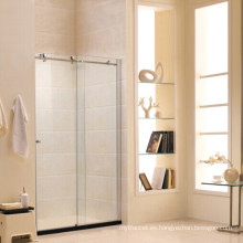 Pantalla de ducha de vidrio templado estándar australiano con puerta corredera (R2)