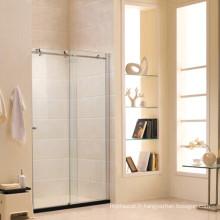 Écran de douche en verre trempé standard australien avec porte coulissante (R2)