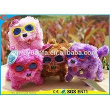 Горячий деталь очаровательный дизайн высокое качество милые плюшевые Электрический прогулки Лающая пятна щенков с популярные очки