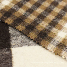 70%Polyester 30%Wool Check Double Faced Woolen Fabric for Overcoats
