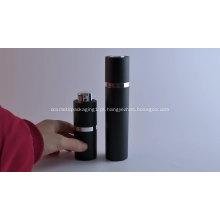Embalagem de cosméticos spray garrafa bomba sem ar preta