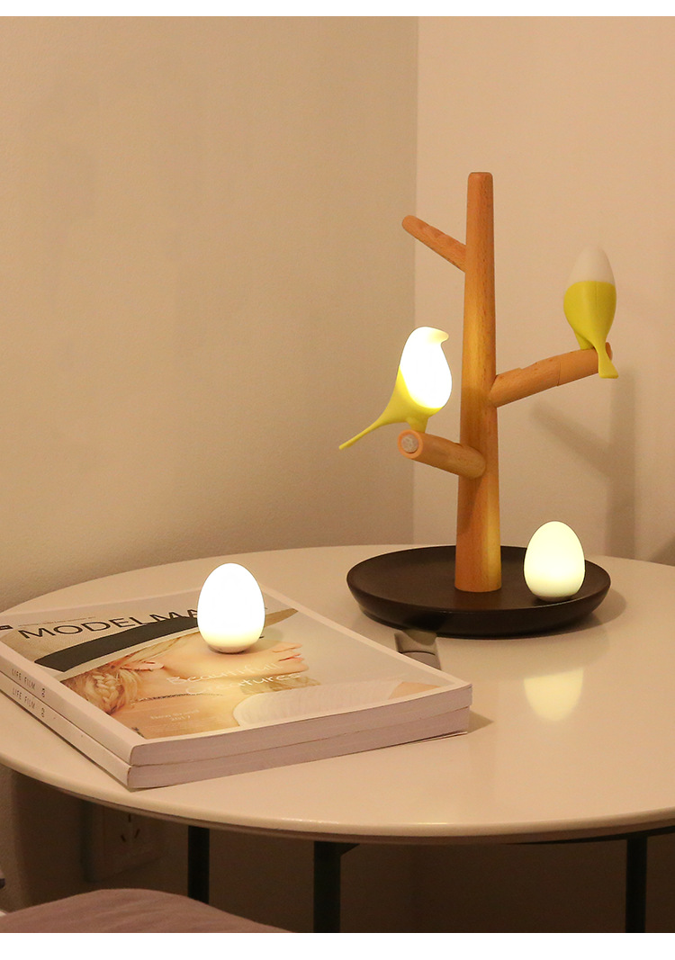 Application Bedside Wooden Lamp