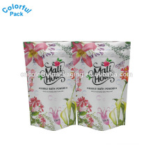 China Manufacture price colorful plastic matte white 150g bags for packaging powder products