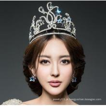 Beleza princesa diamante pageant coroa quente venda diamante real tiaras