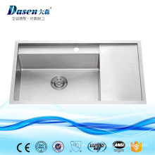 Custom Size Simple Design Stone Pedestal Stainless Steel Lab Chemical Resistant Sink With Caddy