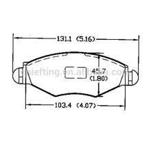 types de plaquettes de frein D1143 425212 pour PEUGEOT CITROEN avant prix des freins
