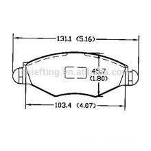 types of brake pads D1143 425212 for PEUGEOT CITROEN front brakes cost