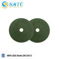 Herramientas abrasivas del disco de pulido verde de la rueda de corte para la venta