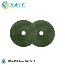 Disco de corte cut-off / disco verde para polir