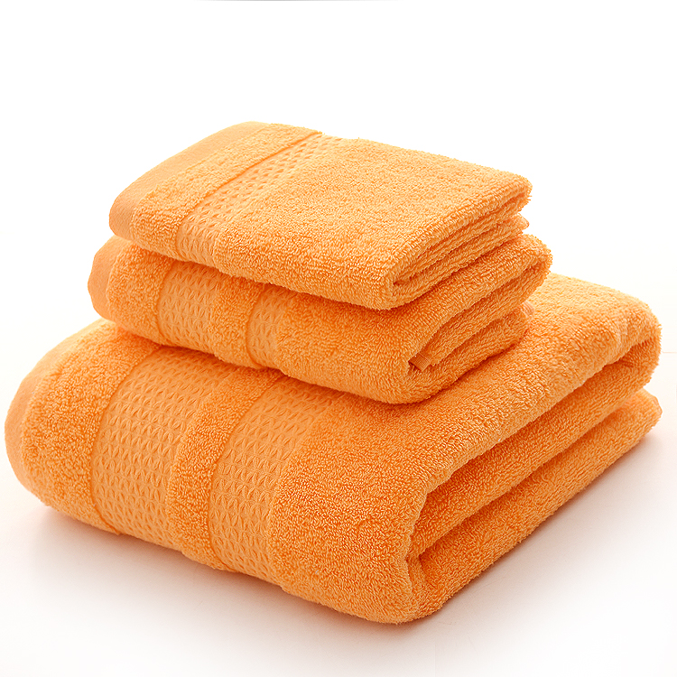 Orange Color Towel Set