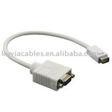 OEM 15CM Mini DVI para VGA adaptador cabo de vídeo do monitor