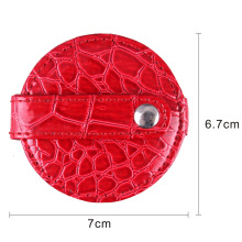 2015 Fashion Leather Round Pocket Mirror for Lady