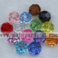 Wholesale 32 Facted Acrylic Crystal Loose Spacer Beads Charms COLORS PICK