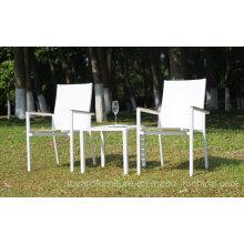 Chaise de table de jardin 1 + 2 Set Stacking Bistro Backyard Terrasse Hôtel Patio Mobilier moderne