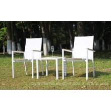 Garden Table Chair 1+2 Set Stacking Bistro Backyard Terrace Hotel Patio Modern Furniture