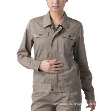 Uniforme de la chaqueta del Workwear del algodón de la ropa del trabajo de las mujeres del OEM