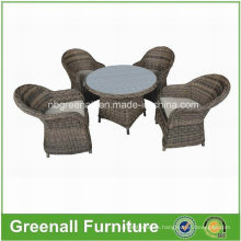 Wicker Round Rattan Patio Outdoor Furniture Dining Table