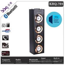 2017 горячие продаж USB памяти SD деревянная башня Bluetooth динамик с светодиодные
