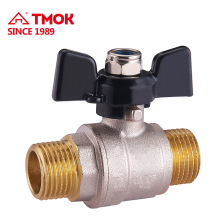 High quality 90 degree brass ball valve with Aluminum butterfly handle and good price for 600WOG