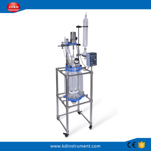 30L Jacketed Chemical Glass Polymerization Reactor