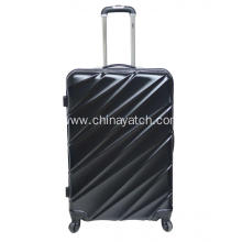 Light 4 Wheels Aluminum trolley PET luggage