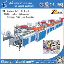 Impressora de tela automática multi-cores rolo a rolo (SPR)