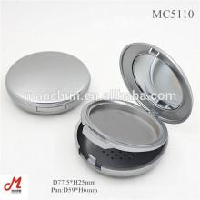 Poudre compacte vide ronde en argent massif 59mm
