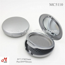 Pó compacto vazio em prata mate 59mm