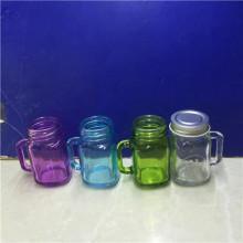 2oz Empty Mini Glass Mason Honey Jar with Handle