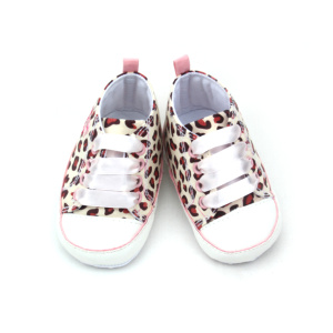 New Ribbon Shoelace Leopard Cotton Sports Baby Shoes