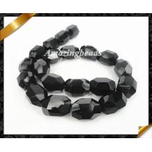 Joyería natural, Nugget ágata negro granos, Onyx suelta joyas de perlas (AG017)
