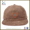 wholesale 5 painel de veludo cotelê em branco snapback chapéus