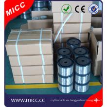 alambre de aleación de termopar / cable de termopar desnudo / alambre de níquel cromado