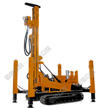 Air compressor hard rock drilling rig