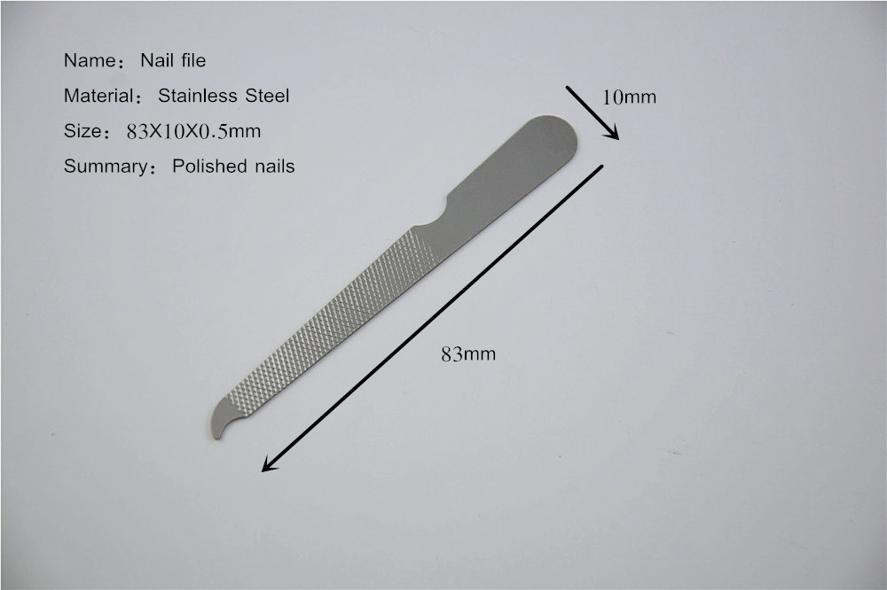 Metal Nail File With Curved End