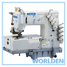 WD - 1404P quatro agulhas plana cama dupla máquina de costura de ponto corrente