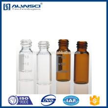 1.5ml screw hplc vial,screw hplc vial with plastic cap,screw hplc vial with label