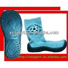 Sola de borracha sapatos meias